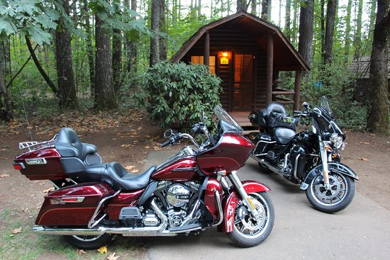 Cascade Locks KOA: Plenty of room for our 3 bikes