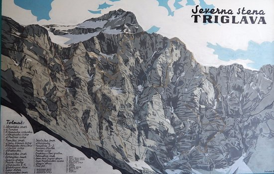 The North face of Triglav: For climbers