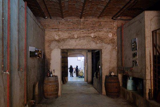 Puigpelat, Hiszpania: Bodega de garaje con encanto por un lado