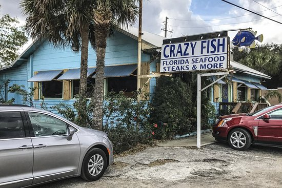 Great food review of crazy fish bar grill lake wales for Crazy fish restaurant