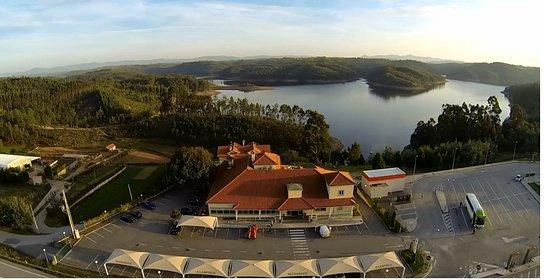 Santa Comba Dao, Portugal: Imagem aérea do Restaurante