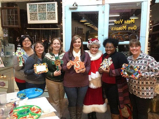 Waxahachie, TX: A holiday Christmas party - Mrs. Claus even stopped by to visit.