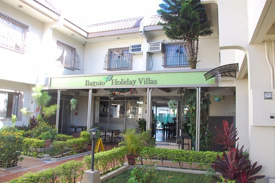 Baguio Holiday Villas: From inside the courtyard
