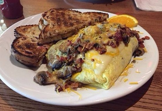 Warroad, MN: delicious harvest omelette