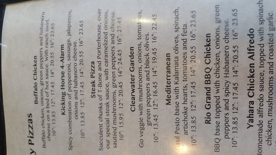 New Glarus, WI: Menu
