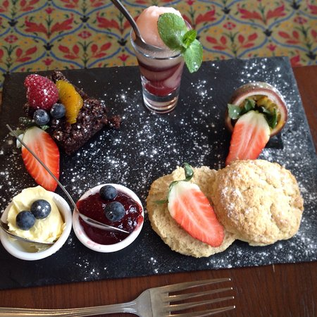 Makeney Hall Hotel: Part of the Vegan afternoon tea