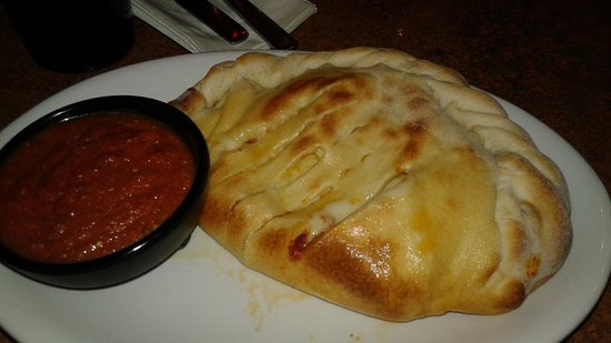 The Phoenix: Calzone - great chewy cheese