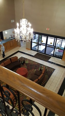 Milledgeville, GA: View from above lobby area.