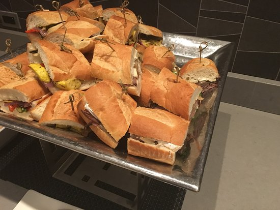 sandwiches in the Concierge lounge