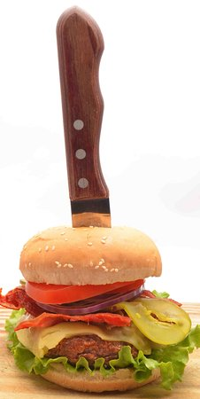Dushi Bagels and Burgers: The Famous Burger!