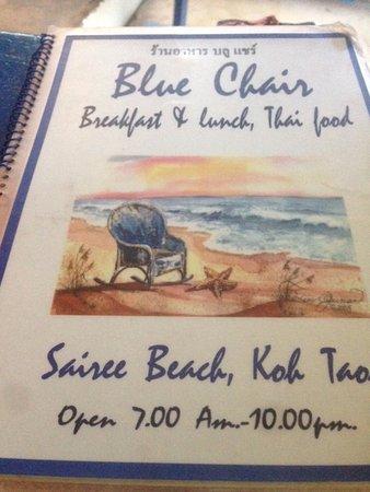 The Blue Chair: Menu