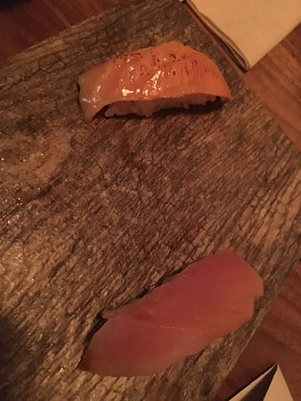 Fairfax, Californien: hamachi and cured salmon