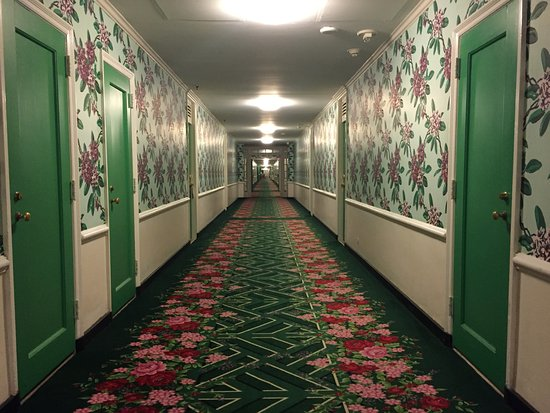The Greenbrier: Was half-expecting to see the Evil Twins from The Shining at the end of the hallway.