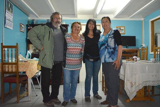Bahia Murta, شيلي: Ahí estamos yo Claudio, Clotilde, Luisa y María Eugenia