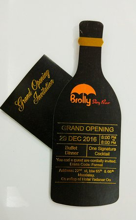 Our grand opening invitation card picture of brolly sky bar brolly sky bar our grand opening invitation card stopboris Images