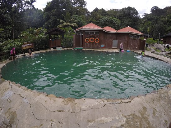 Poring, Malasia: Pool at the hot spring (cold water)
