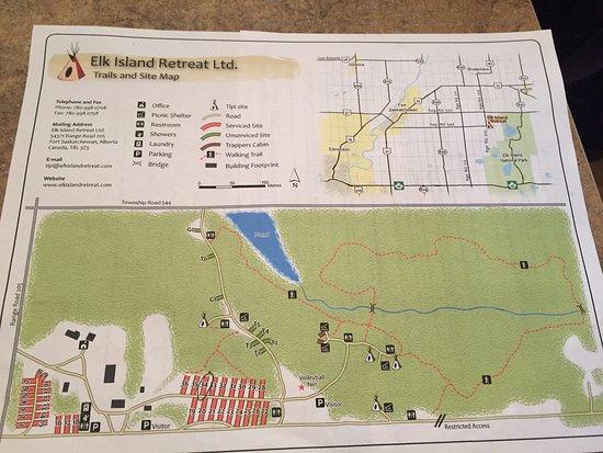 Valemount, Canadá: Site Map, Yellowhead Campground & RV Park, 325 North Highway #5, Valemont, BC