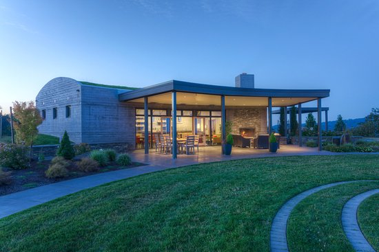 Yamhill, OR: The Fairsing Vineyard tasting room pays homage to the Celtic heritage of the owners.