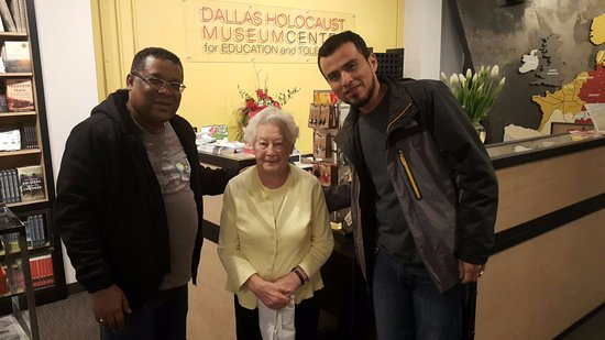 Dallas Holocaust Museum: With survivor of the Holocaust