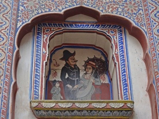 Nawalgarh, Hindistan: an interesting painting