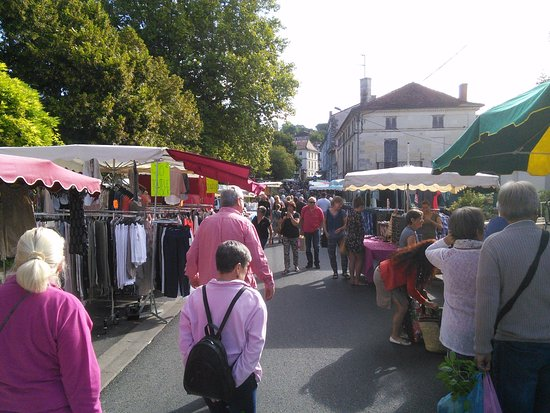 Montagrier, France: Market Day in Riberac.