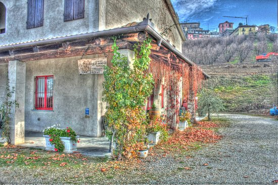 Diano d'Alba, Itálie: La cantina in autunno