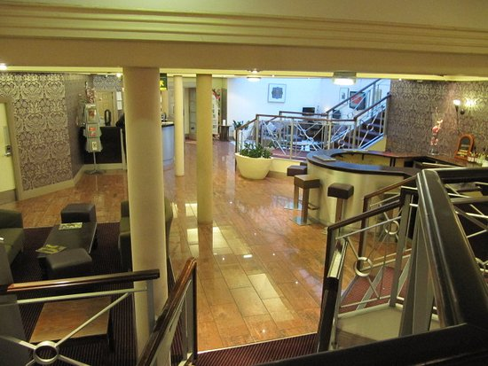 Foyer Stairs Reviews : Foyer and bar area picture of gardens hotel manchester