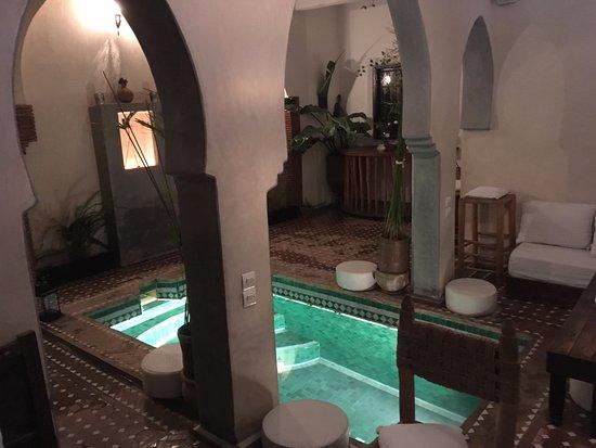 Riad Shambala: The swimming pool