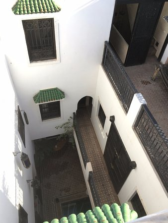 Riad Shambala: Top down view of the Riad from the roof