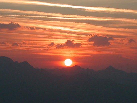 Liesing, Österreich: Abendsonne über dem Lesachtal