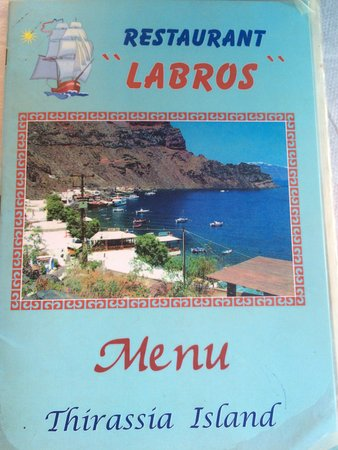 Thirassia, Grecia: Good lunch at Labros