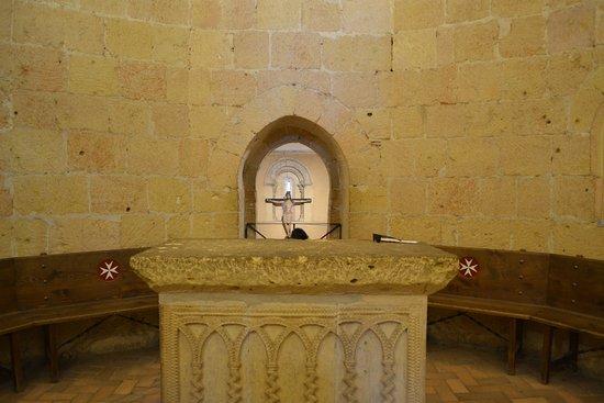 Iglesia de la Vera Cruz: Corresponde al degundo piso, al altar de ceremonias.
