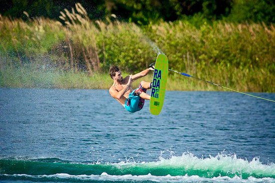 Windermere, FL: Franck Desboyaux - Pro skier and Florida Ski School coach during training!
