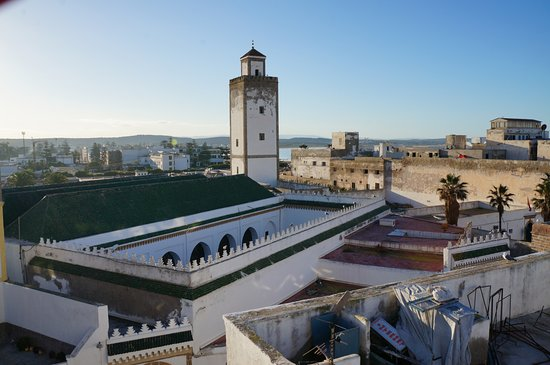 Essaouira Wind Palace: View from the rooftop where breakfast is served