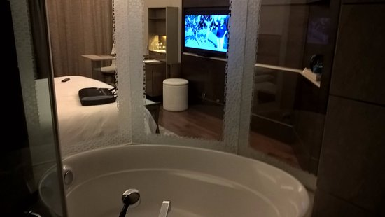 Bagno vista tv picture of the leela ambience convention hotel