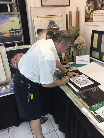 That Yoda Guy - Nick Maley Autographing a print we purchased ...