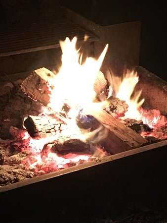 Mexia, TX: Campfire at Fort Parker State Park
