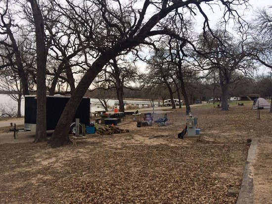 Mexia, TX: Sites 3, 4, and 5 Short walk to bath house and fishing dock