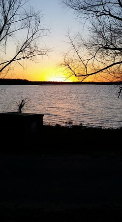 Mexia, TX: Sunset at Fort Parker State Park