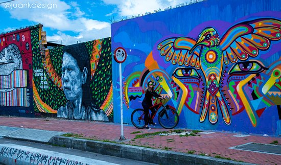 Hotel Casa Guadalupe: Graffiti bike tours Luisca