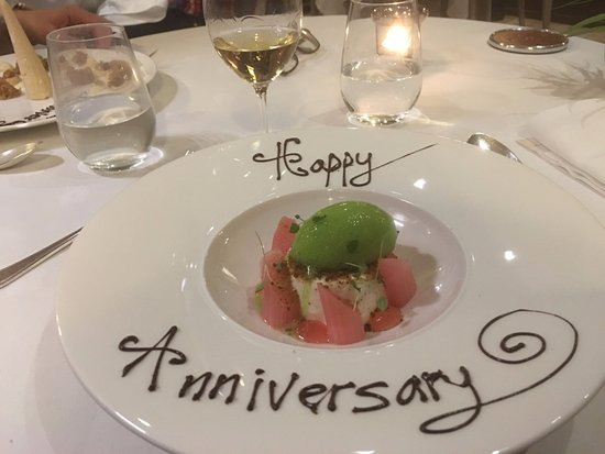 West Hoathly, UK: Photos of our puddings - I told the restaurant in advance it was an important anniversary dinner