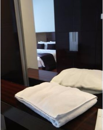 The Arista Hotel Palembang: This is where the housekeeping placed my towels