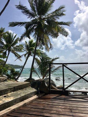 Bacolet Bay, Tobago: Ett fantastiskt läge med en av de bästa och lugnaste stränderna.