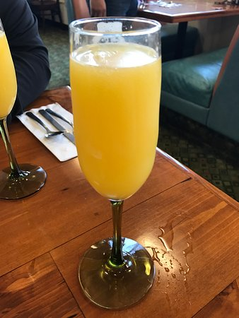 Lincoln, CA: Primarily juice filled mimosa.