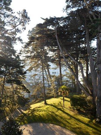 Hotel Les Pleiades - La Baule: Petit matin brumeux ... au soleil de janvier ! Ouvrir la fenêtre sur ... le parc !