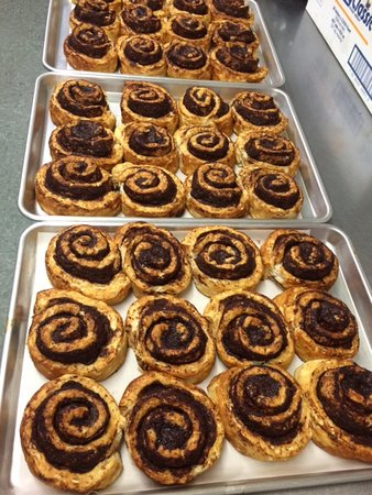 Birchwood, WI: Cinnamon Roll baking, getting ready for a busy weekend.