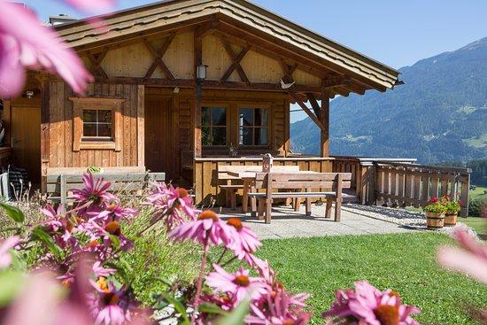 Wenns, Austria: Aufenthaltshütte für unsere Gäste am Sennhof Huter