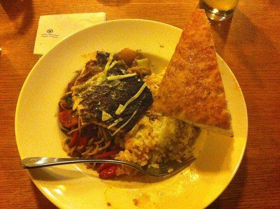 Leftovers Of Hunan Kung Pao Cajun Chicken Thai Chicken On Rice