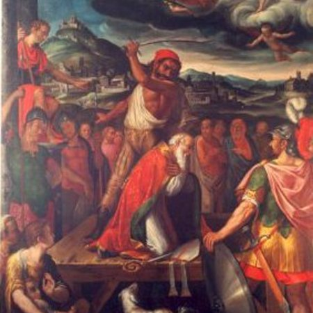 Tortona, Italy: Tassinari, Martirio di San Marziano e veduta della città antica