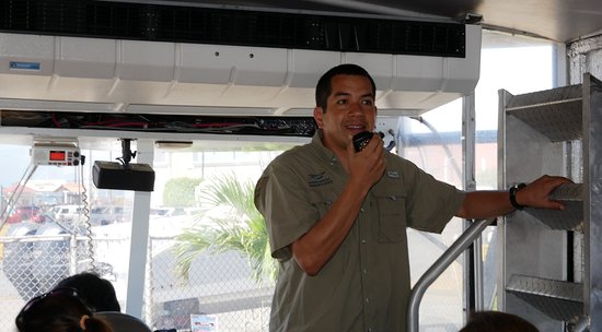 Panama Marine Adventures - AquaBus City Tour: An onboard tour guide tells the story of Panama City